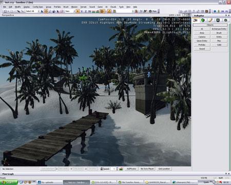 De Sandbox2 editor van Crysis