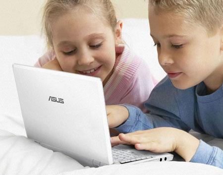 Asus Eee PC met kinderen