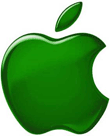 Apple groen logo