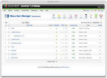 Joomla! 1.5 screenshot (410 pix)