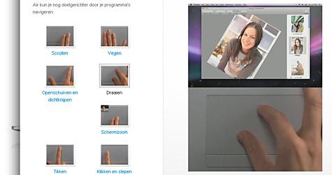 Macbook Air multi-gesture touchpad