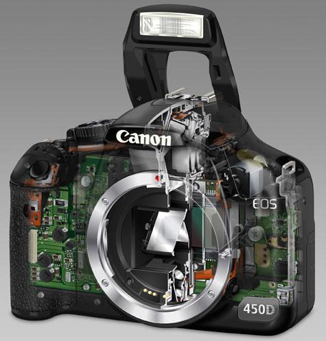 Opengewerkte Canon 450D