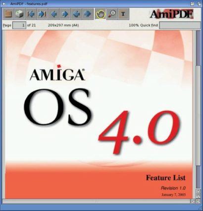 Amiga OS 4.0 screenshot (410 pix)