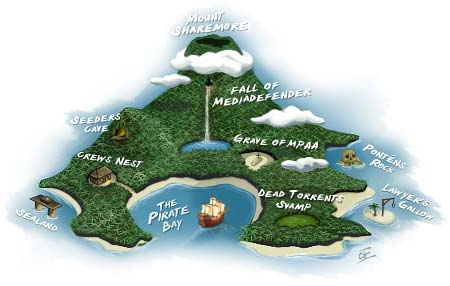 The Pirate Bay kaart