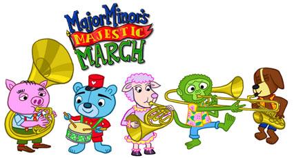 Major Minor\'s Majestic March - artwork en logo