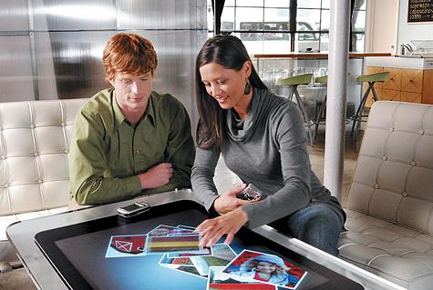 Microsoft Surface wordt gebruikt
