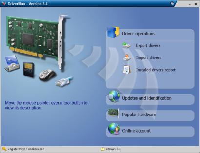 DriverMax 3.4 screenshot (410 pix)