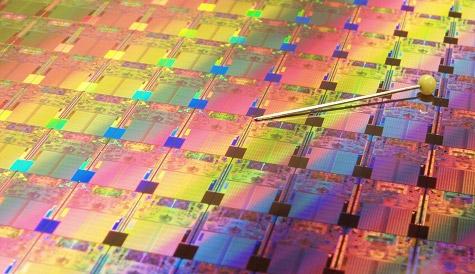 Intel Penryn wafer