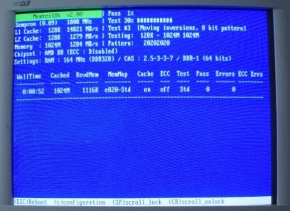 Memtest86+ 2.00 screenshot (410 pix)