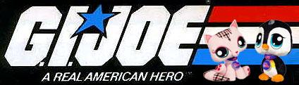 G.I. Joe logo met Littlest Pet Shop-figuren