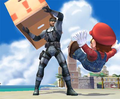 Super Smash Bros. Brawl - Snake vs Mario