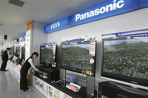 Platte schermen van Matsushita