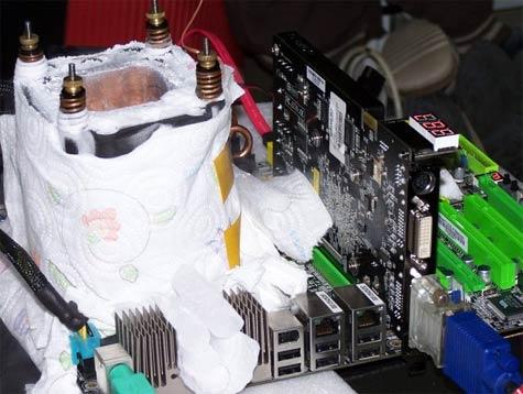 Opstelling met LN2-koeling