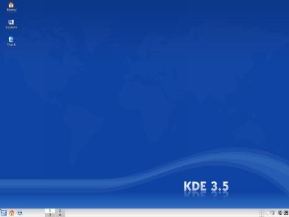 KDE 3.5 standaard desktop (410 pix)