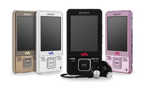 Sony NWZ-820-serie Walkmans in vier kleuren