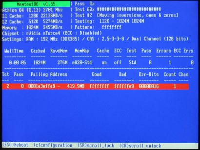 Memtest86+ 1.55 screenshot (410 pix)