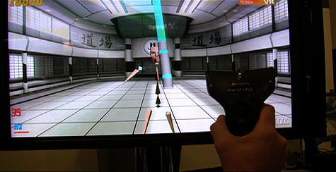 Virtuele lightsaber van Intersense