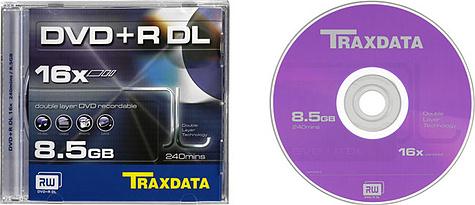 Traxdata 16x DVD+R DL
