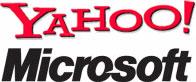 Yahoo en Microsoft logo's