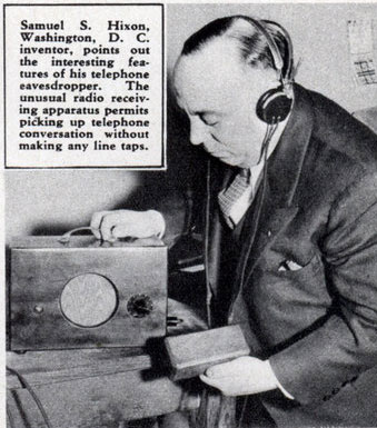 Eerste aftapapparaat met uitvinder Samuel S. Hixon