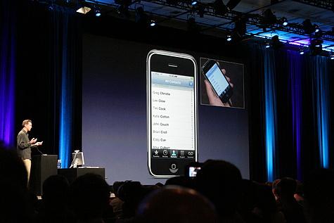 iPhone in Keynote-presentatie