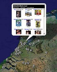 Hyves en Google Maps-mashup