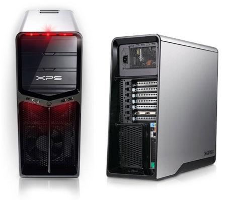 Dell XPS 630-computer voor- en achterkant