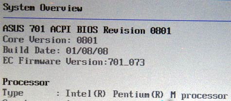 Pentium M in Eee PC