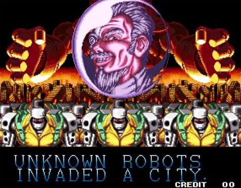 Screenshot uit game Robot Invasion