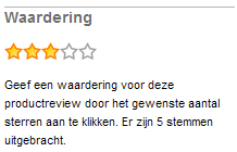 Productreviewwaardering