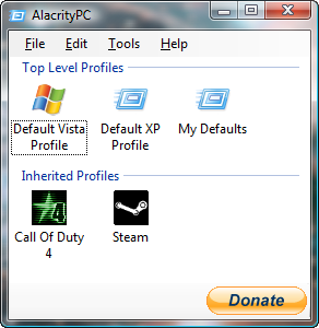 AlacrityPC screenshot
