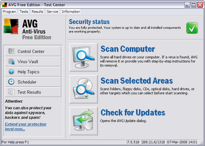AVG Anti-Virus Free Edition 7.5 (410 pix)