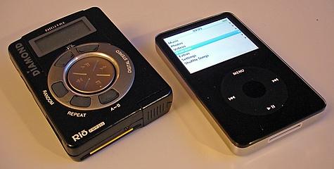 Diamond Rio PMP300 32MB vs Apple iPod Video 60GB