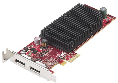 AMD ATI FireMV 2260 met twee displayports