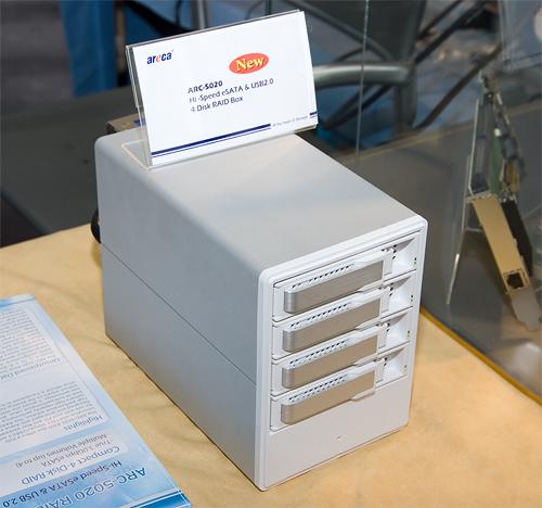 Cebit 2008: Areca ARC-5020 box