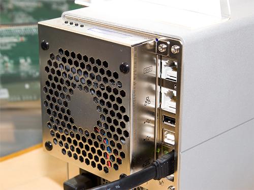 Cebit 2008: Areca ARC-5020 connectors