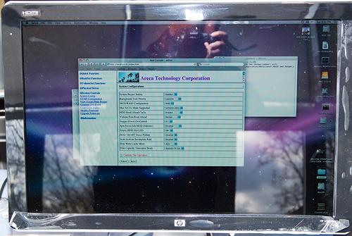 Cebit 2008: Areca ARC-5020 webbased management