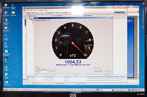 Cebit 2008: Adaptec benchmark demo