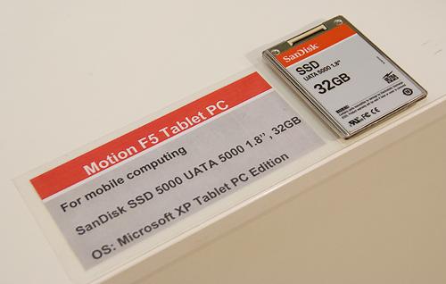 Cebit 2008: SanDisk ssd in Motion tablet pc