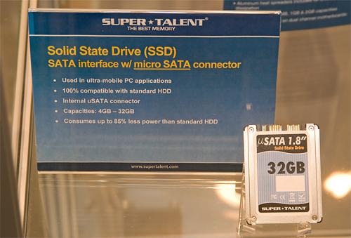 Cebit 2008: Super Talent 1,8 inch micro sata ssd