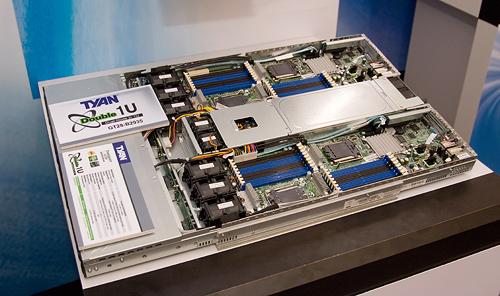 Cebit 2008: Tyan dual node 1U Opteron