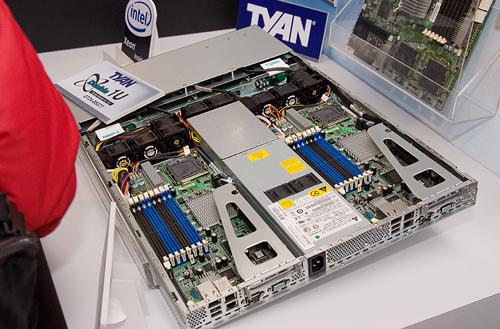 Cebit 2008: Tyan dual node 1U Xeon