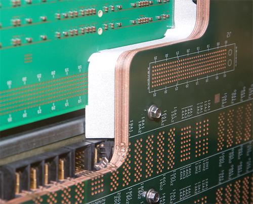 Cebit 2008: IBM System p printplaat doorsnede