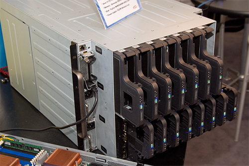 Cebit 2008: Uniwide blade chassis