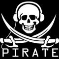 piraat met koptelefoon