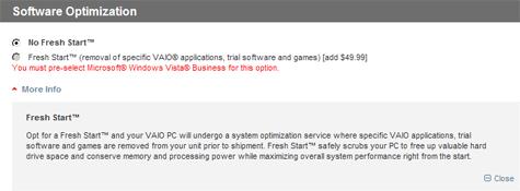Sony Fresh Start