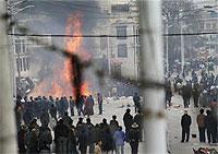 Rellen in de Tibetaanse hoofdstad Lhasa