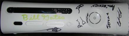 Gesigneerde Xbox 360
