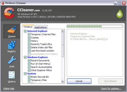 Crap Cleaner 2.06.567 screenshot (resized)