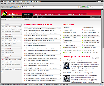 Tweakers.net in Mozilla Firefox 2.0.0.13